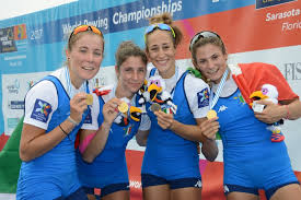 Quattro di Coppia Femminile Pesi Leggeri Campionesse Mondiali 2017 Sarasota USA Schettino Cesarini Maregotto Piazzolla