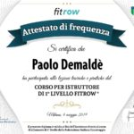 Paolo Demalde' Diploma Istruttore 1° Livello Fitrow