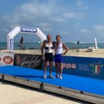 Medaglia D'oro canottieri Verbanese Campionato Italiano beach sprint Costal Rowing Master over 55