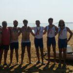 4 senior coastal rowing beach sprint Bronzo