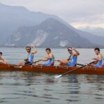4 con Yole Rappresentativa Federale Campione d'Europa con Atleta Vebanese Ardizzoia Emanuele quarta voga