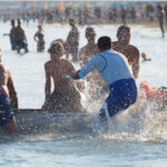 Beach costal rowing