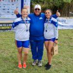 Premiazione 2 di coppia senior medaglia d'argento Ilaria Motta Camilla musetti Tim Erica Ferraris